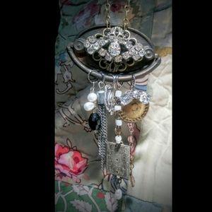 Upcycled antique/vintage hardware necklace